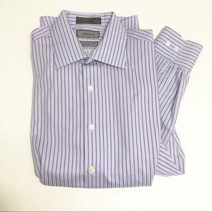 Claiborne Stripe Modern Fit Button Up Shirt